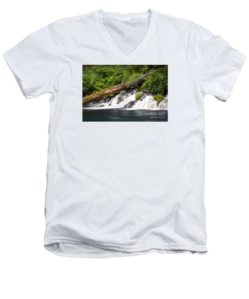Allen Springs On The Metolius River Men's V-Neck T-Shirt