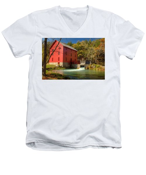 Men's V-Neck T-Shirt featuring the photograph Alley Mill by Harold Rau