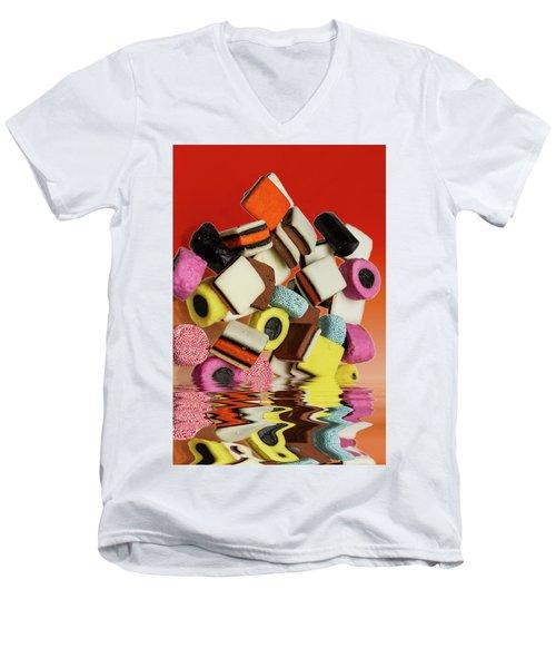 Allsorts Sweets Men's V-Neck T-Shirt by David French