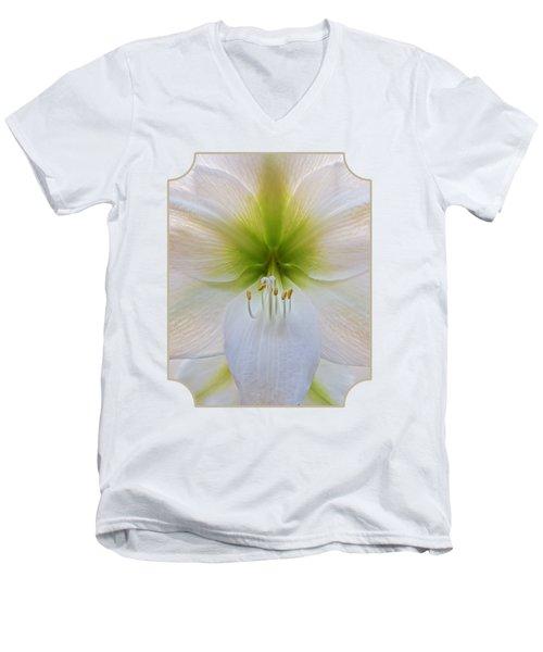 Alluring Amaryllis Vertical Men's V-Neck T-Shirt