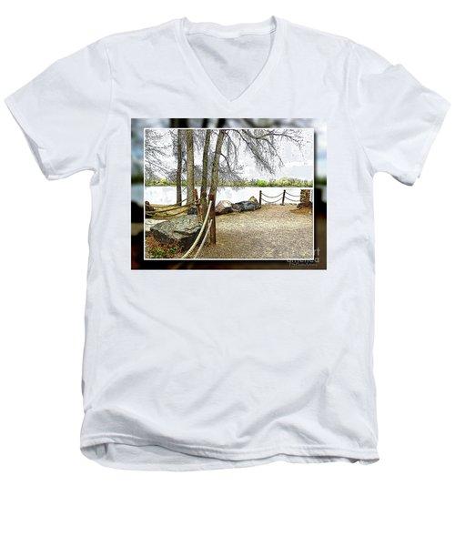 Almost Spring At Lafayette Lake Men's V-Neck T-Shirt