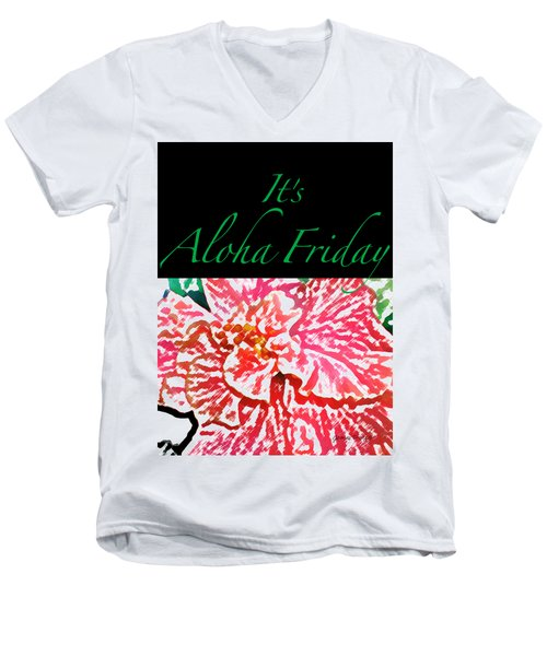 Aloha Friday T-shirt Men's V-Neck T-Shirt by James Temple