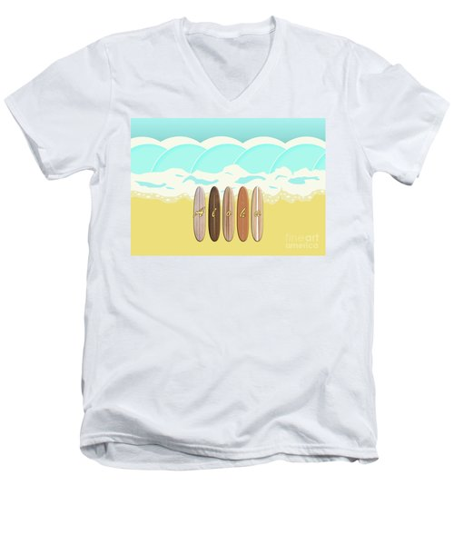 Aloha Surf Wave Beach Men's V-Neck T-Shirt