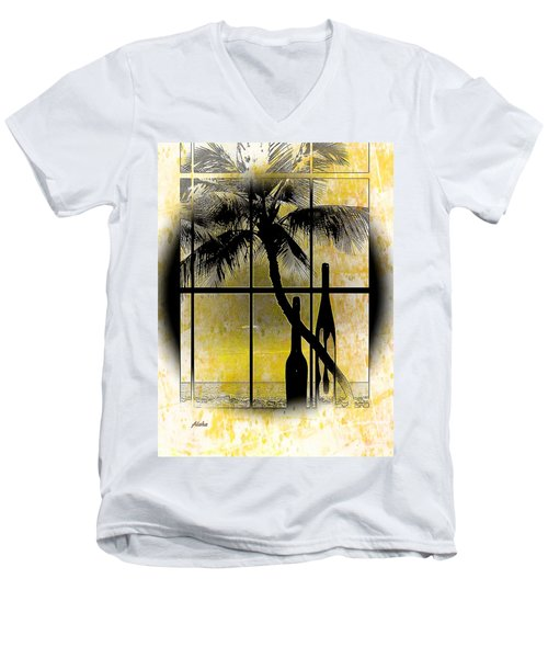 Men's V-Neck T-Shirt featuring the photograph Aloha,from The Island by Athala Carole Bruckner