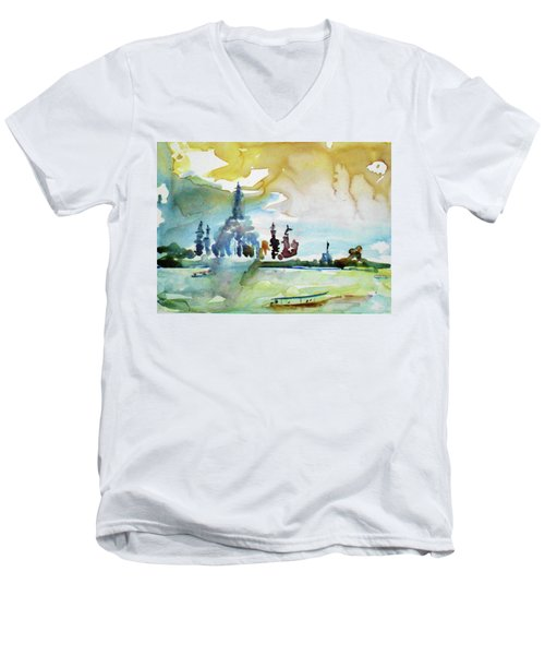 Along The Chao Phaya River Men's V-Neck T-Shirt