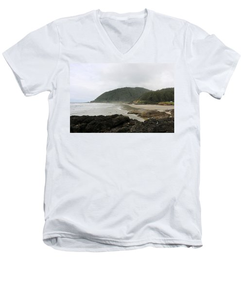 Along The Oregon Coast - 3 Men's V-Neck T-Shirt