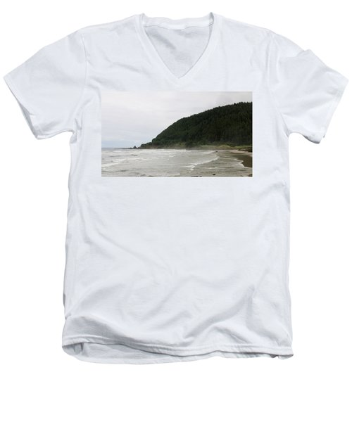 Along The Oregon Coast - 4 Men's V-Neck T-Shirt