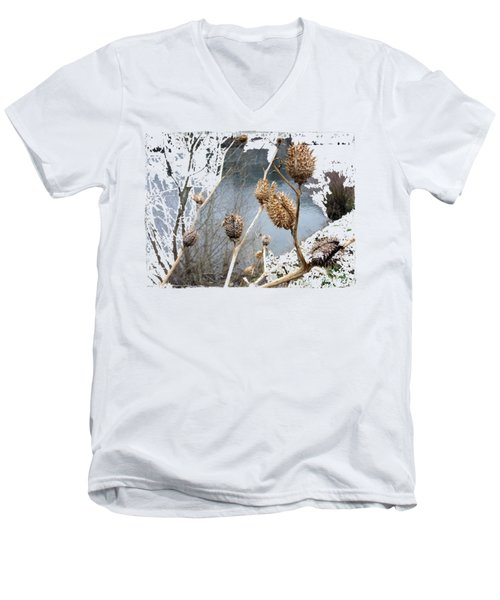 Along The River Men's V-Neck T-Shirt by Vesna Martinjak
