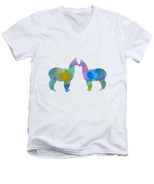 Alpaca Art Men's V-Neck T-Shirt