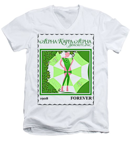 Alpha Kappa Alpha Men's V-Neck T-Shirt