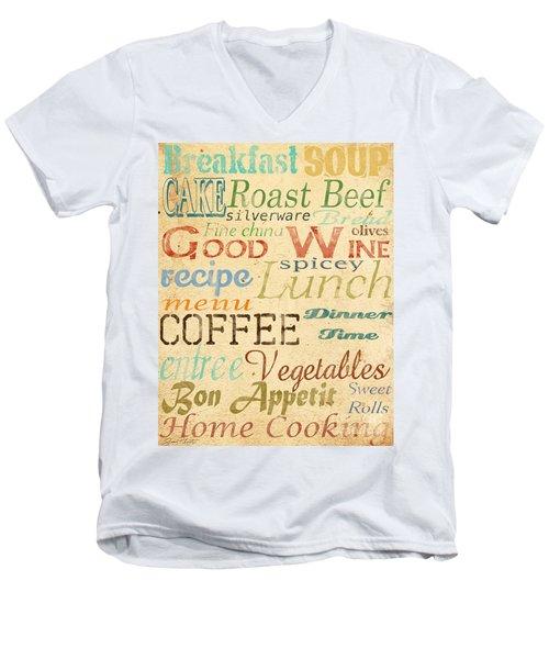 Alphabet Soup-a Men's V-Neck T-Shirt