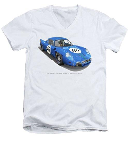 Alpine Renault A210 Men's V-Neck T-Shirt