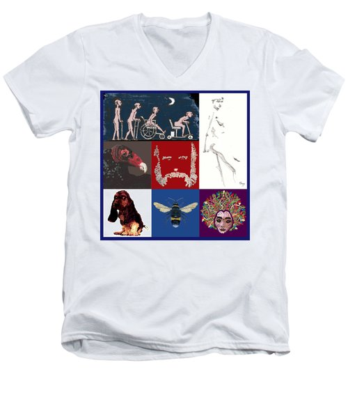 Alter Ego Montage Men's V-Neck T-Shirt