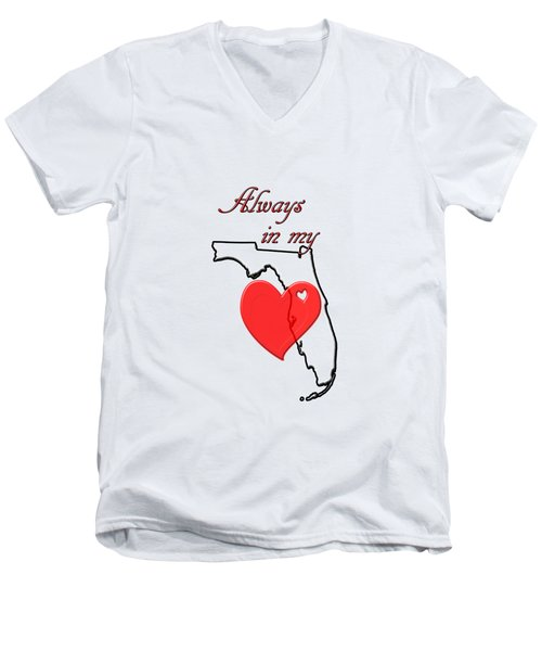Always In My Heart Fl Men's V-Neck T-Shirt