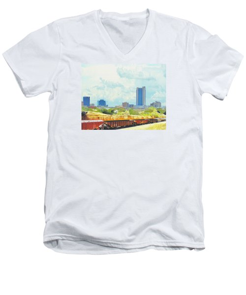 Amarillo Texas In The Spring Men's V-Neck T-Shirt by Janette Boyd