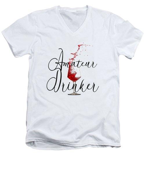 Amateur Drinker Visual Inspiration For Home Decor And Apparels  Men's V-Neck T-Shirt