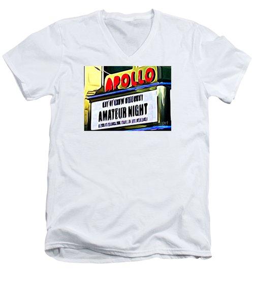 Amateur Night Men's V-Neck T-Shirt by Ed Weidman