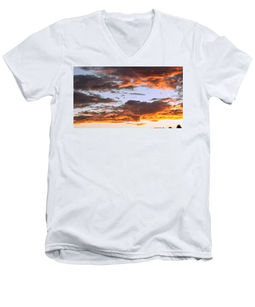 Glorious Clouds At Sunset Men's V-Neck T-Shirt