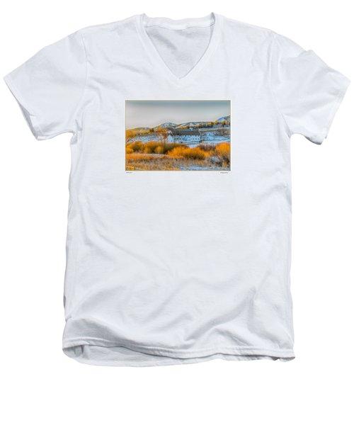 Amber Grass Men's V-Neck T-Shirt by R Thomas Berner