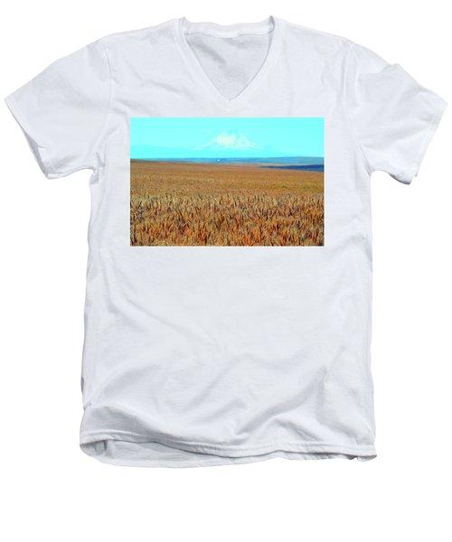 Amber Waves Of Grain Men's V-Neck T-Shirt