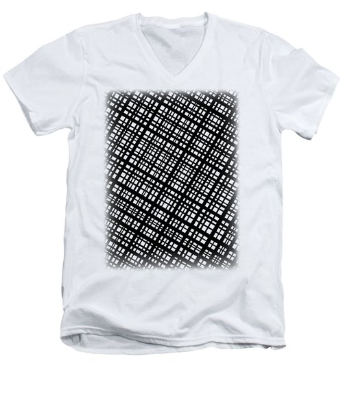 Men's V-Neck T-Shirt featuring the digital art Ambient 35 by Bruce Stanfield