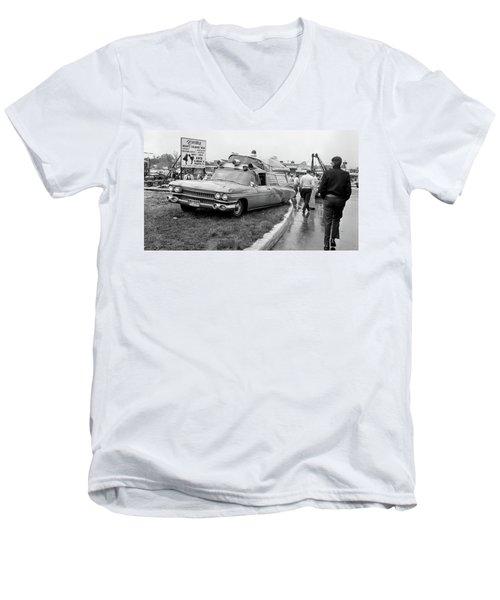 Ambulance Accident Men's V-Neck T-Shirt by Paul Seymour