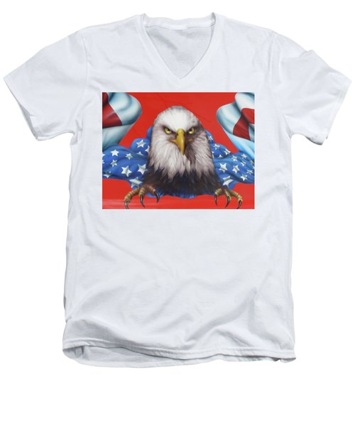 America Patriot  Men's V-Neck T-Shirt