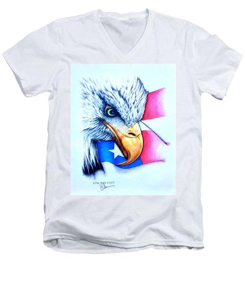 America Men's V-Neck T-Shirt