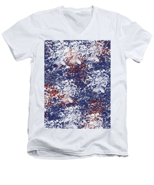 America Watercolor Men's V-Neck T-Shirt by P S