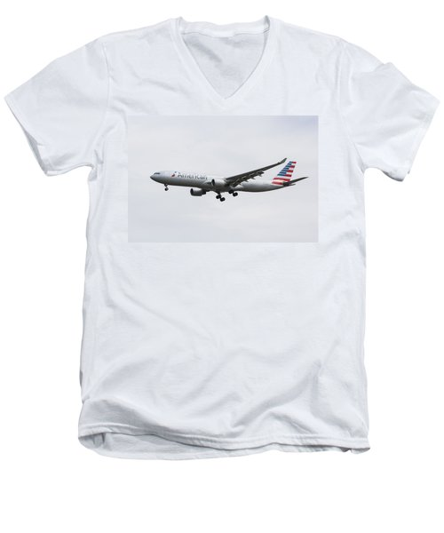 American Airlines Airbus A330 Men's V-Neck T-Shirt