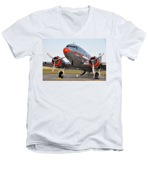 American Airlines Dc3 Men's V-Neck T-Shirt