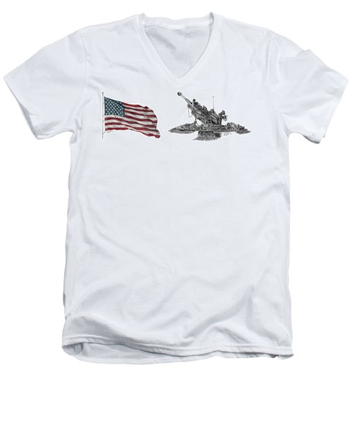American Artillery Men's V-Neck T-Shirt
