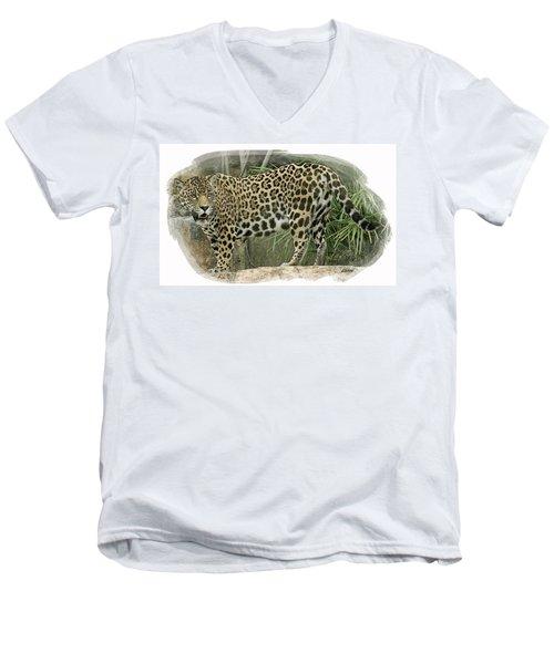 American Jaguar 18 Men's V-Neck T-Shirt