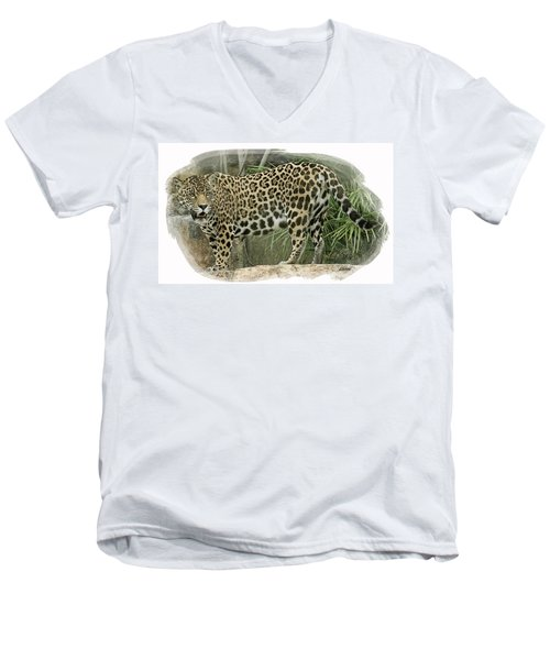 American Jaguar 18 Men's V-Neck T-Shirt