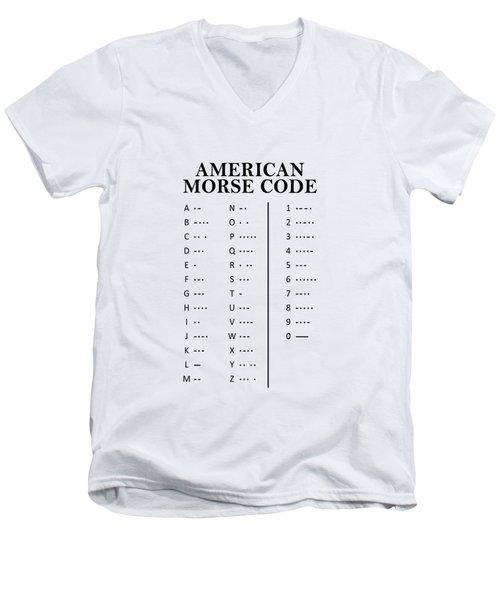 American Morse Code Men's V-Neck T-Shirt