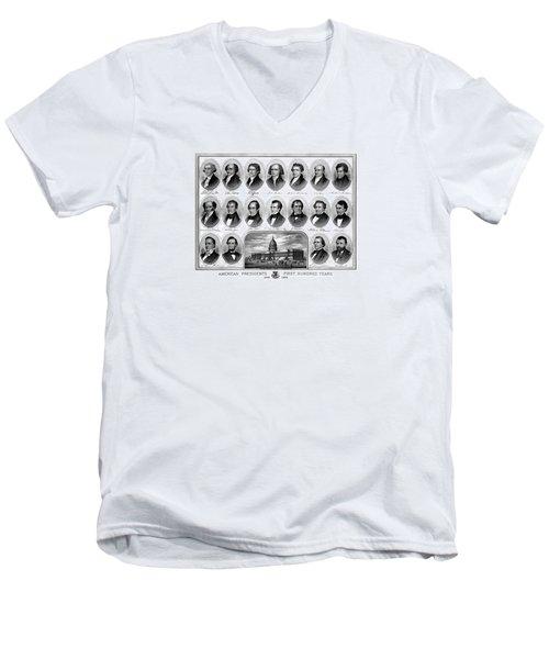 American Presidents First Hundred Years Men's V-Neck T-Shirt