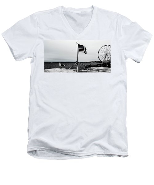 American Seattle Men's V-Neck T-Shirt