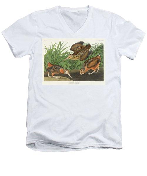 American Woodcock Men's V-Neck T-Shirt