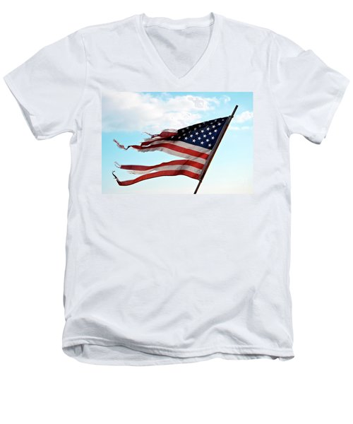 America's Liberty Prevails Men's V-Neck T-Shirt by Loriannah Hespe