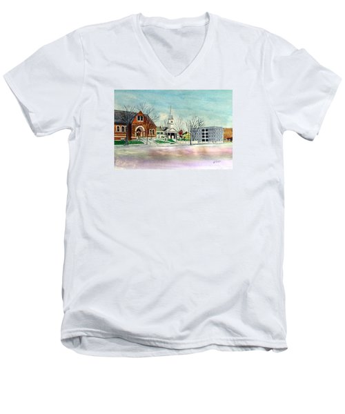 Amesbury Public Library Circa 1920 Men's V-Neck T-Shirt