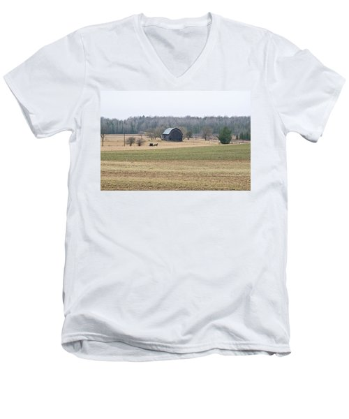 Amish Country 0754 Men's V-Neck T-Shirt by Michael Peychich