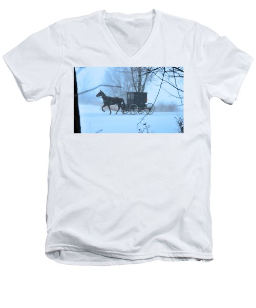 Amish Dreamscape Men's V-Neck T-Shirt