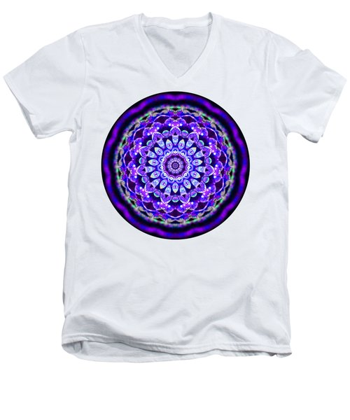 Ammersee Cropcircle Lightmandala Morph Men's V-Neck T-Shirt