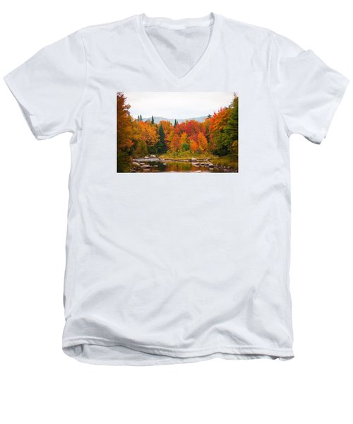 Men's V-Neck T-Shirt featuring the photograph Ammonoosuc River by Robert Clifford