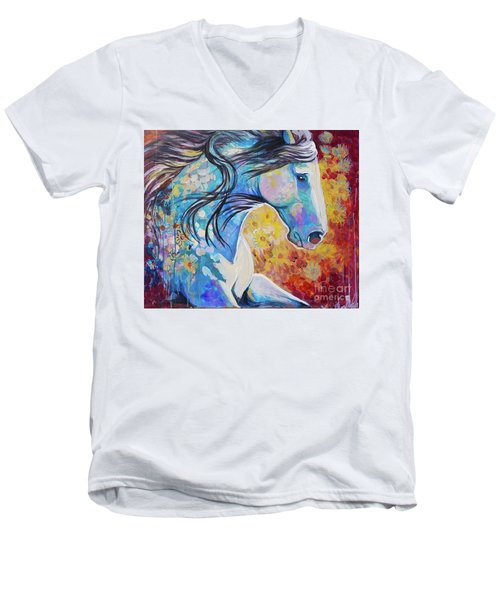 Among The Wildflowers Men's V-Neck T-Shirt
