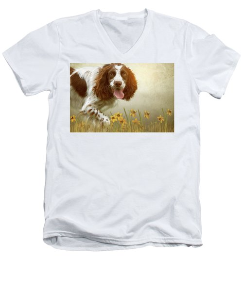 Amongst The Flowers Men's V-Neck T-Shirt