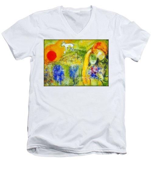 Amoureux De Vence Men's V-Neck T-Shirt