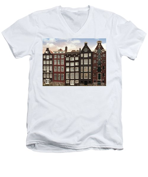 Amsterdam Architectre At Twilight Men's V-Neck T-Shirt