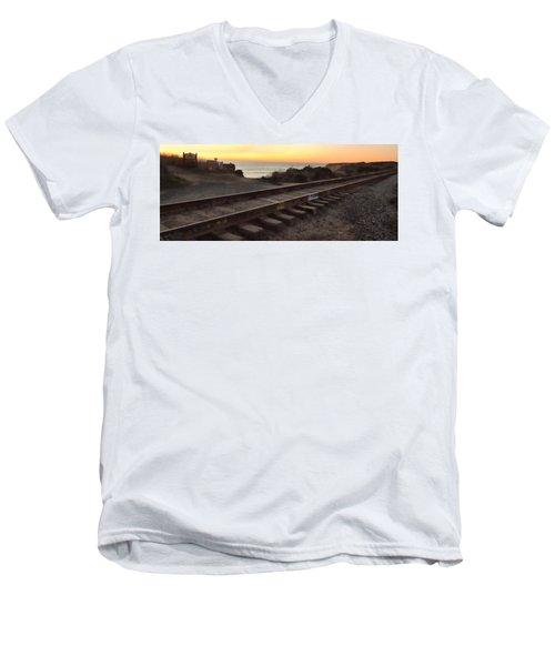 Amtrak On The Pacific Men's V-Neck T-Shirt