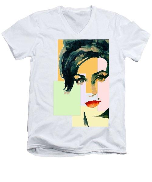 Amy... Love Men's V-Neck T-Shirt by Laur Iduc